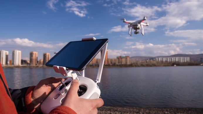 Drone at Construction Site