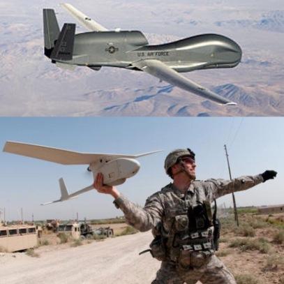 Military Drones: Northrop Grumman's Global Hawk vs Aerovironment's Raven