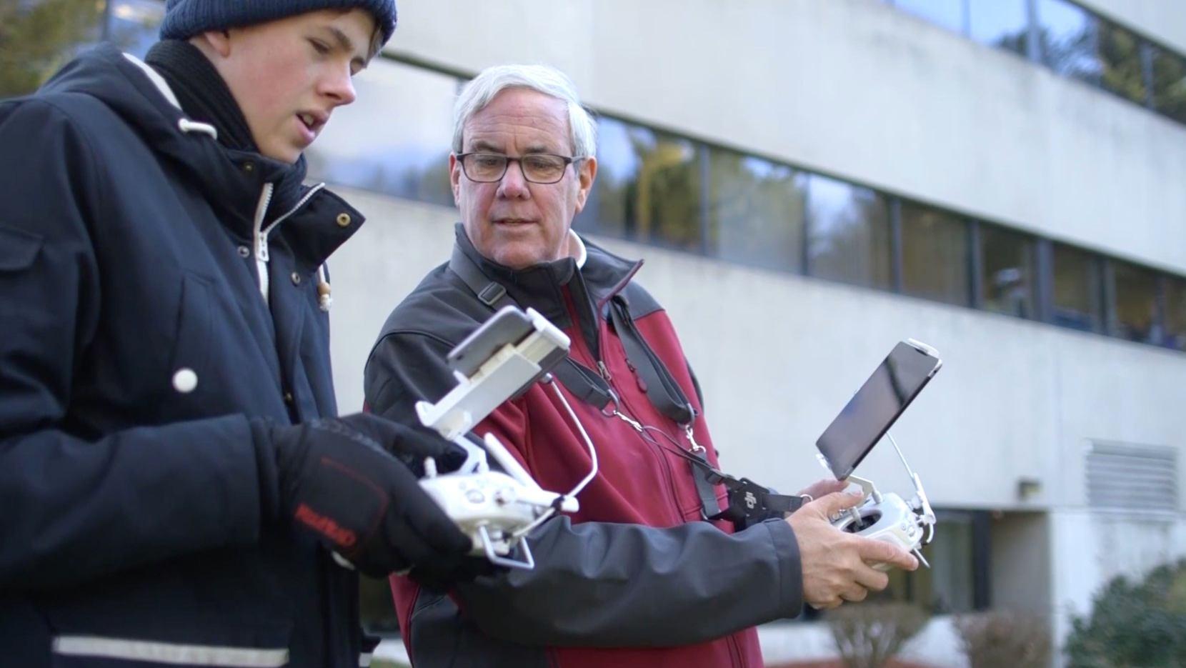 Dual drone pilots