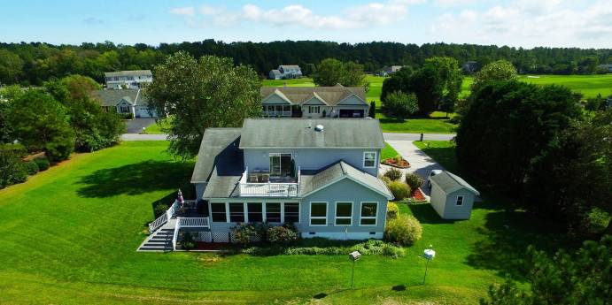 Stunning aerial of house